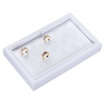 18-Ring Clip Tray: White Leather