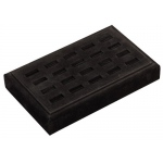 20-Ring Slot Tray: Black Suede