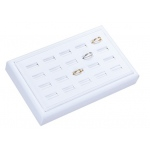 20-Ring Slot Tray: White Leather