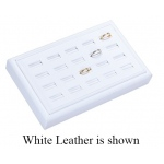 20-Ring Slot Tray: Off-White Leather
