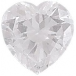 AAA Rated Heart Shape Cubic Zirconia: 10.0mm, 4.00cts