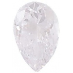AAA Rated Pear Shape Cubic Zirconia: 10.0 x 7.0mm, 2.00cts