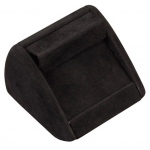 1 Pair Earring Clip Display: Black Suede