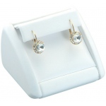 1 Pair Earring Clip Display: White Leather