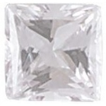 AAA Rated Princess Cut Cubic Zirconia: 1.5mm, 0.04cts