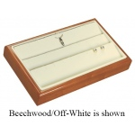 3-Row Pendant/Earring Tray: Cherry/White