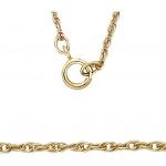 "14K Yellow 1.15mm Carded Machine Rope Chain: 16"" Length"
