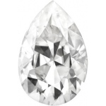 Forever Brilliant Pear Moissanite: 5.0 x 3.0 mm