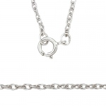 "4K White 1.15mm Carded, Machine Rope Chain: 16"" Length"