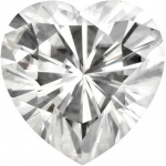 Forever Brilliant Heart Moissanite: 2.5 mm
