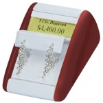 1 Pair Clip Earring Display: White/Cherry