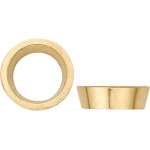 14K Yellow Gold Round Tapered Bezel: 0.50 Carat Size, 5.00 mm Size