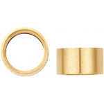 14K Yellow Gold Round Straight Bezel: 2.5 mm Diameter, 2.3 mm Height