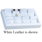 8-Earring & Pendant Tray: Gray Suede