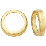14K Yellow Gold Round Bezel - Non-Faceted: 15.0 mm Size, 3.15 mm Height