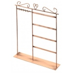 "Copper Earring/Necklace Stand, 10"" x 15""H"