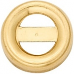 14K Yellow Round Bezel -  Non-Faceted with T-Bar: 6.0 mm Size, 2.16 mm Height