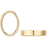 14K Yellow Gold Oval Bezel - Non-Faceted: 6 mm x 4 mm Inside Diameter, 2.40 mm Height