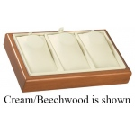 3-Necklace Tray: White/Cherry