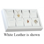 8-Pendant Tray: Off-White Leather