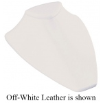 Large Low Bust Display: White Leather