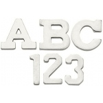 14k White 3.20mm Block Initial: H