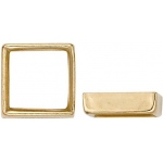 14K Yellow Square Bezel - Non-Faceted Stone: 8.0 mm x 8.0 mm Size, 2.90 mm Height