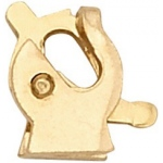 14K Yellow Gold Safety Catch: 4.4 mm (H) x 3.8 mm (W)