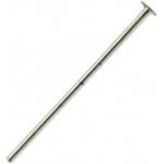 "14K White Head Pin: 0.020"" x 13.00mm"