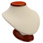 Oval Bust: Cream/Beechwood