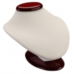 Oval Bust: White/Cherry