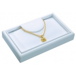 Necklace Tray: White Leather