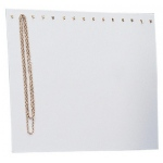 Chain Display with Easel Back: White Leather