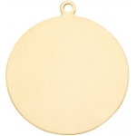 14K Yellow Gold Round Disk: 18.5 mm Diameter