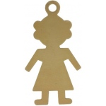 14K Yellow Girl Silhouette Charm: 23.5 mm x 12.5 mm
