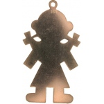 14K Yellow Girl Silhouette Charm: 38.0 mm x 21.5 mm