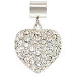 Silver Large Heart Crystal: 5.0 mm Hole Size