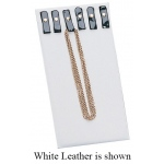 Chain w/ Snaps & Easel: Off-White Leather