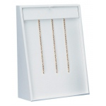 12 Chain Ramp with Hooks: White Leather