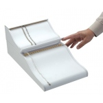 2-Level Bracelet/Chain Ramp: White Leather