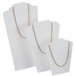Necklace Display Stand: White, Medium