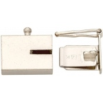 14K White Closed Top Lock: 8.16mm x 4.96mm x 2.21 mm