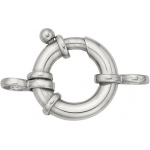 14k White Gold Heavy Spring Ring with 2 Rings: 12.0mm x 3.0mm