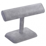 T-Bar Display: Gray Suede