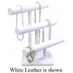 3-Layered T-Bar: Off-White Leather