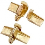 14k Yellow Open Top Safety Clasp: 4.0 mm Width