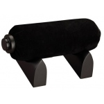 Bangle/Watch Tube On Stand: Black Suede