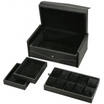 Carbon Fiber 10-Watch Case With Removable Tray