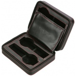 Black Leather 4 Watch Travel Case