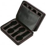Black Leather 8 Watch Travel Case